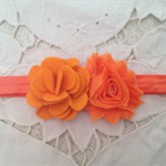 """Poppy"" flower baby / girl headband"